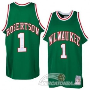 Canotte NBA Robertson Milwaukee Bucks Verde