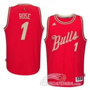 Maglie Basket Rose Christmas Chicago Bulls Rosso