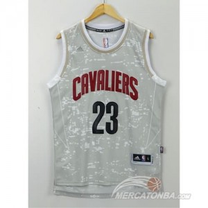Canotte Basket Luces Cavaliers James Grigio