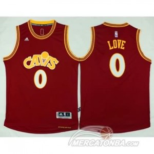 Maglie Basket Retro Love Cleveland Cavaliers Rosso