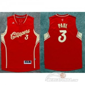 Maglie Basket Pual Christmas Los Angeles Clippers Rosso