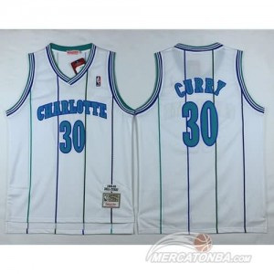 Canotte Basket Charlotte Curry New Orleans Hornets Bianco