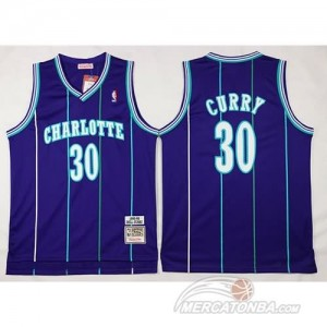 Canotte Basket Charlotte Curry New Orleans Hornets Porpora