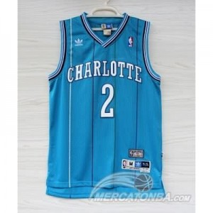 Canotte Basket Retro Charlotte Johnson New Orleans Hornets Blu
