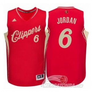 Maglie Basket Jordan Christmas Los Angeles Clippers Rosso