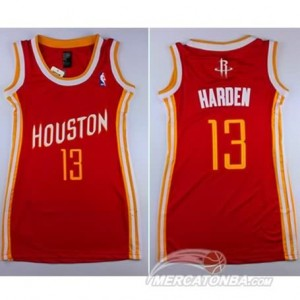 Maglie NBA Donna Harden Houston Rockets Rosso