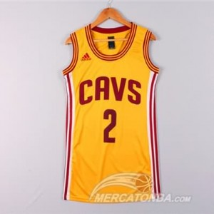 Maglie NBA Donna Irving Cleveland Cavaliers Giallo