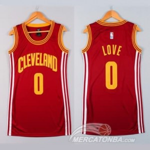 Maglie NBA Donna Love Cleveland Cavaliers Rosso