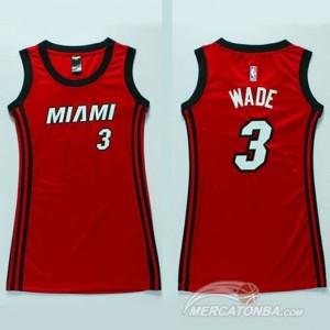 Italia Maglie Donna Wade Miami Heats Rosso