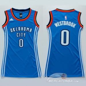 Italia Maglie Donna Westbrook Oklahoma City Thunder Blu