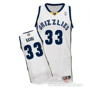 Canotte NBA Rivoluzione 30 Gasol Memphis Grizzlies Bianco
