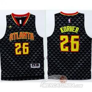 Maglie Basket Korver Atlanta Hawks Nero