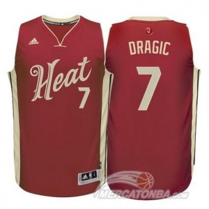 Maglie Shop Dragic Christmas Miami Heats Rosso