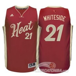 Maglie Basket Whiteside Christmas Miami Heats Rosso