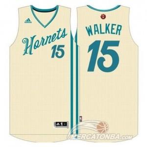 Canotte NBA Walker Christmas Charlotte Hornets Bianco