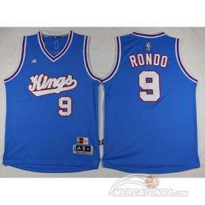 Maglie Basket Rondo 15-16 Sacramento Kings Blu