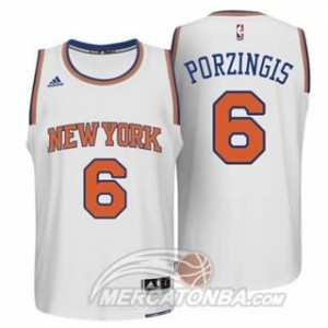 Maglie Basket Porzingis New York Knicks Bianco