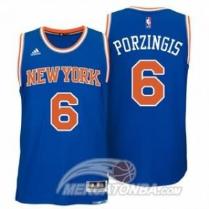 Maglie Basket Porzingis New York Knicks Blu