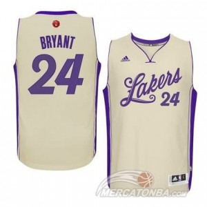 Maglie Shop Bryant Christmas Los Angeles Lakers Bianco