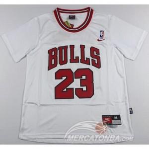 Canotte Basket Manga Corta Bull Jordan Bianco 2016
