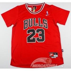 Canotte Basket Manga Corta Bull Jordan Rosso 2016