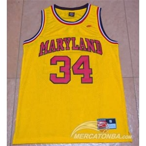 Canotte Basket NCAA Maryland Blas Giallo