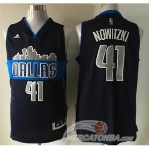 Maglie Basket Nowitzik Dallas Mavericks Blu