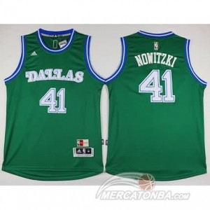 Maglie Basket Nowitzik Dallas Mavericks Verde