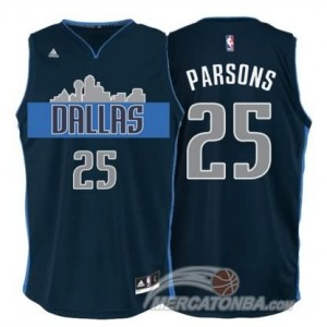 Maglie Basket Parsons Dallas Mavericks Blu