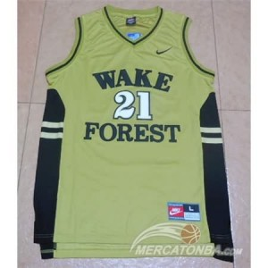 Canotte Basket NCAA Wake Forest Duncan Giallo
