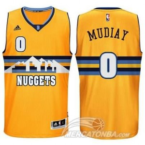 Maglie Basket Mudiay Denver Nuggets Giallo
