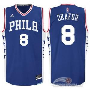 Maglie Basket Okafor Philadelphia 76ers Blu