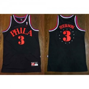Maglie Basket Phila Iverson Philadelphia 76ers Nero