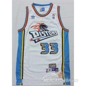 Maglie Basket Hill Detroit Pistons Pistons Bianco