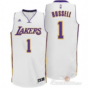 Maglie Basket Russell Los Angeles Lakers Bianco