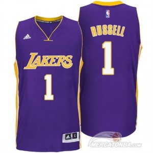 Maglie Basket Russell Los Angeles Lakers Porpora