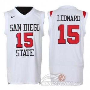 Canotte Basket NCAA San Diego State Leonard Bianco
