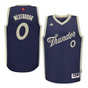Maglie Basket Westbrook Christmas Oklahoma City Thunder Blauw