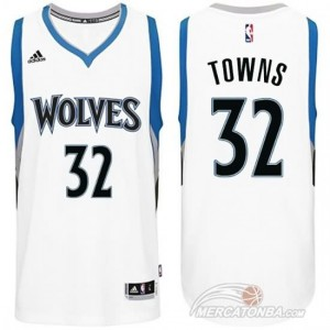 Maglie Basket retro Towns Minnesota Timberwolves Bianco
