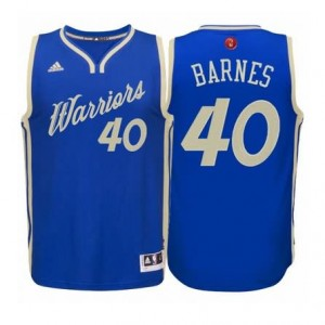 Maglie Shop Barnes Christmas Golden State Warriors Blauw