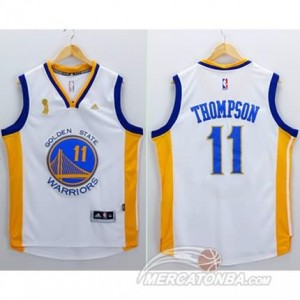 Maglie Basket Thompson Golden State Warriors Bianco
