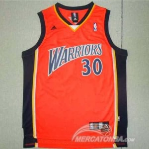 Maglie Basket retro Curry Golden State Warriors Arancione