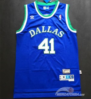 Maglie Basket Retro Nowitzki Dallas Mavericks