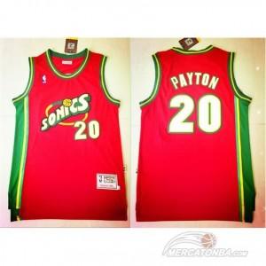 Maglie Basket retro Payton Seattle Sonics Rosso