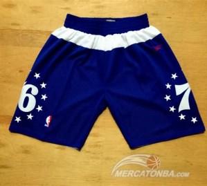 Pantaloni NBA Philadelphia 76ers Blu
