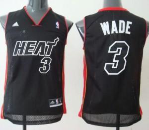 Maglie NBA Bambini Wade Miami Heats Nero2