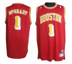 Maglie Basket retro McGrady Houston Rockets Rosso