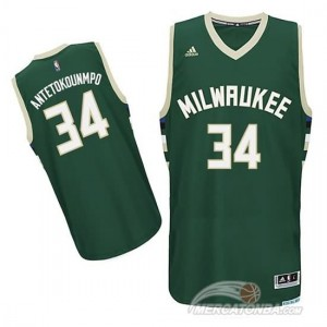 Canotte NBA Rivoluzione 30 Antetokounmpo Milwaukee Verde