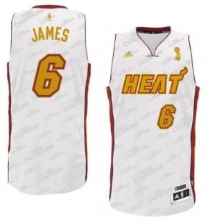 Canotte NBA Rivoluzione 30 James Miami Heats Bianco