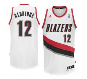 Canotte NBA Rivoluzione 30 Aldridge Portland Trail Blazers Bianco